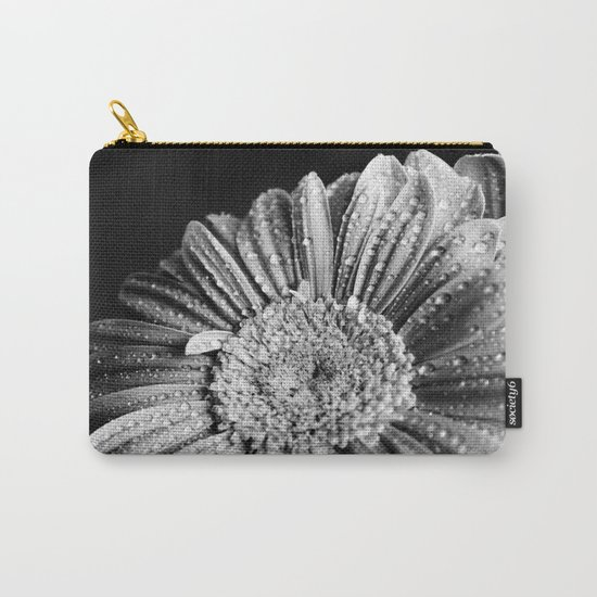 Gerbera black and white Carry-All Pouch