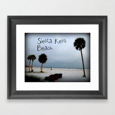 Siesta Keys Beach Framed Art Print