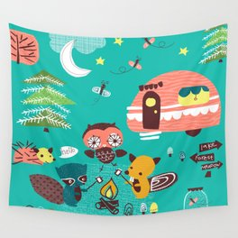 Let's Go Camping Wall Tapestry