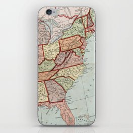 Vintage Map of The United States (1887) iPhone Skin