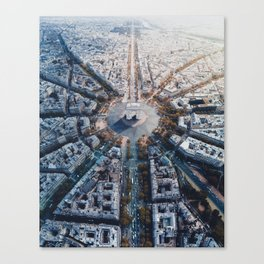 Arc De Triomphe, Paris Canvas Print