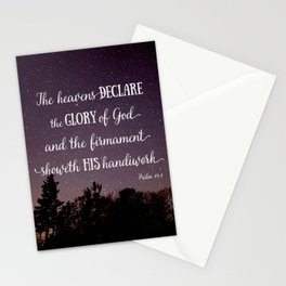 The Heavens Declare the Glory of God Stationery Cards