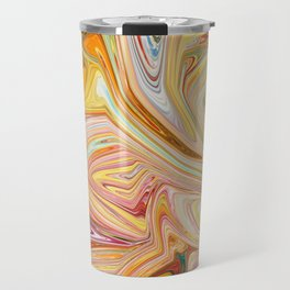 artistic colorful liquid painting Travel Mug