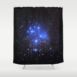 the Pleiades or Seven Sisters in Taurus Shower Curtain
