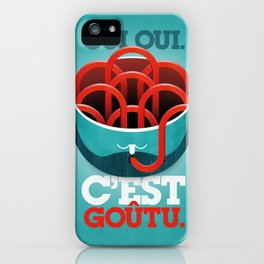 "Spaghetti brain (""yes, it's tasty."") iPhone Case"