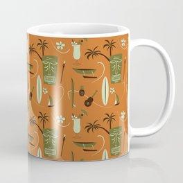 Orange Retro Hawaiian Tiki Hawaii Beach Coffee Mug