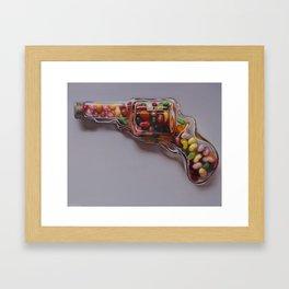 Glass Revolver Framed Art Print