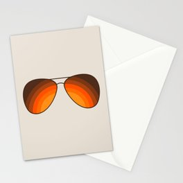 Golden Shades Stationery Cards