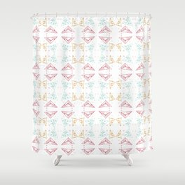 Fragmented Delights Shower Curtain