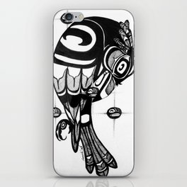 Raven Steals the Stars iPhone Skin