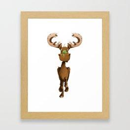 Moose Named Moe Framed Art Print