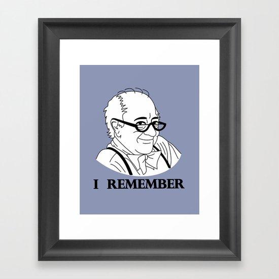 I Remember Framed Art Print
