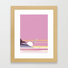 Seagull of morning glow Framed Art Print