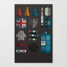 doctor who grid 1 Canvas Print