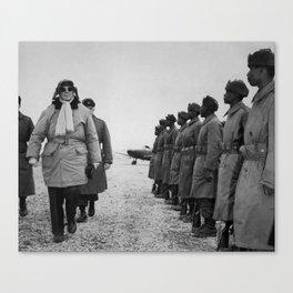 General MacArthur Inspecting Troops - Korean War Canvas Print