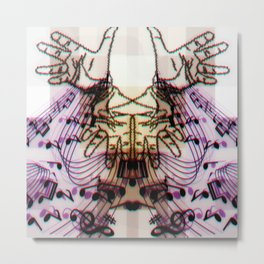 Hands Magic Music Metal Print