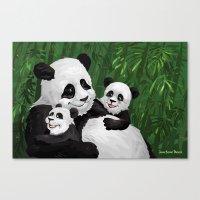 pandas Canvas Prints featuring Pandas by Jason Bryant Parker