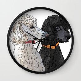 Pair of Poodles Wall Clock