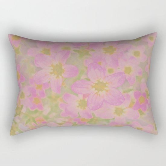 Pink Floral, The Earth Laughs In Flowers Rectangular Pillow