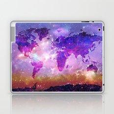 world map galaxy sky Laptop & iPad Skin