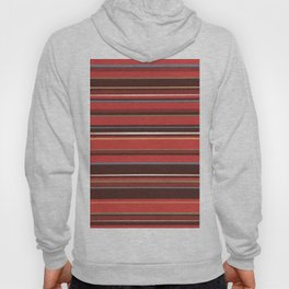Red and Chocolate Brown Stripes Hoody