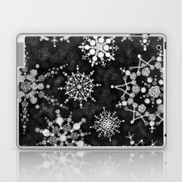 Gray Snowflakes Laptop & iPad Skin