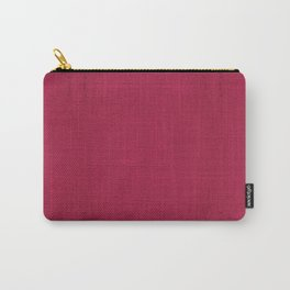 """Rose fuchsia Burlap Texture (Pattern)"" Carry-All Pouch"