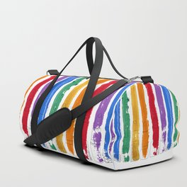 Rainbow Lipstick Stripes Duffle Bag