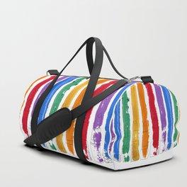 Rainbow Lipstick Stripes Duffle Bag
