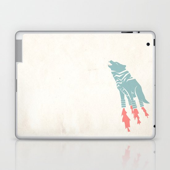 Robot Wolf-Tiger from Outer Space Laptop & iPad Skin