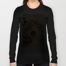 Map Of The Strait Of Magellan 1611 Long Sleeve T-shirt