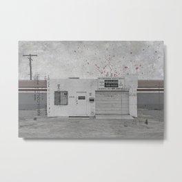 The Garage & The Cross Metal Print