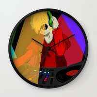 homestuck Wall Clocks featuring Dave the DJ by The Clifthanger