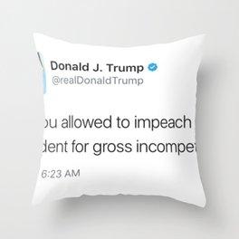 TrUGHmp Throw Pillow