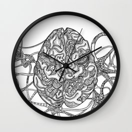 Neurons & Brain Wall Clock