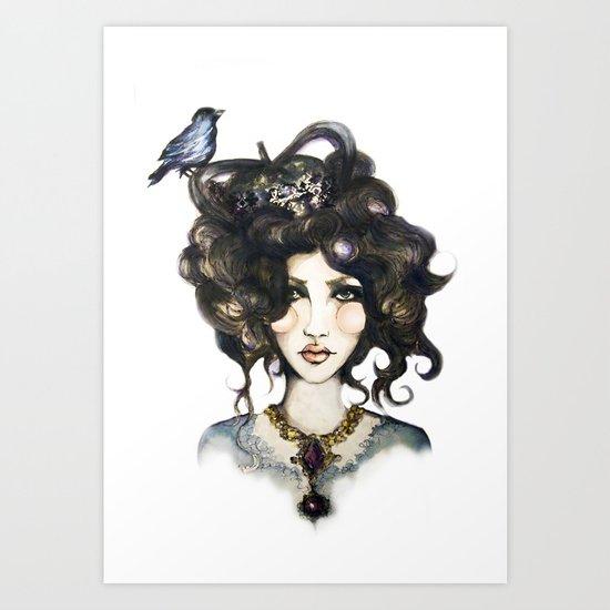 Bird // Fashion Illustration Art Print