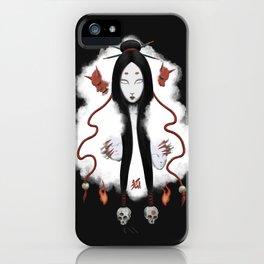 Inhuman - Japanese Fox Spirit Kitsune iPhone Case