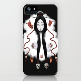 Inhuman - Japanese Fox Spirit Kitsune iPhone Case