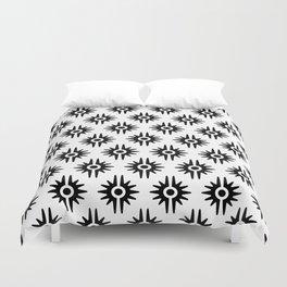 Mid Century Modern Bang Pattern 272 Black and White Duvet Cover