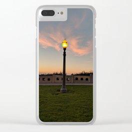 San Pedro Lightpost Clear iPhone Case