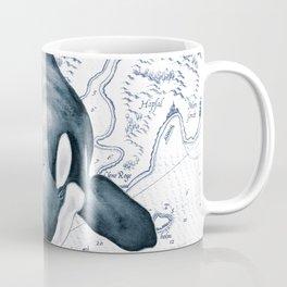 Orca Ancient Map Coffee Mug