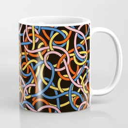 Knots - Memphis Milano Pasta Spaghetti Fork food graphic 80s 90s Kitchen Home Coffee Mug