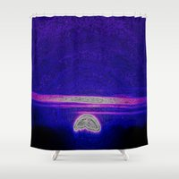 moonrise Shower Curtains featuring Moonrise by RingWaveArt