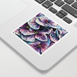 purple flowers watercolor art Sticker