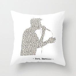 Bastille Poet Lyrics Throw Pillow
