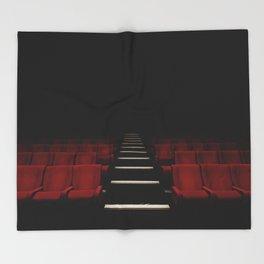 Red Theater Throw Blanket