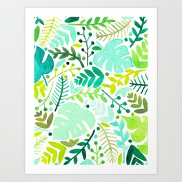 summer foliage Art Print