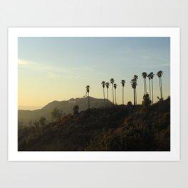 Los Angeles, Hollywood sign Art Print