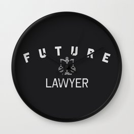 Future lawyer profession clothing. Law student gift. Wall Clock