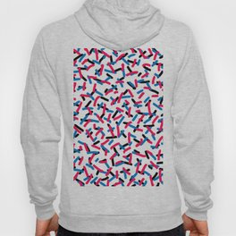 Brush Confetti Light Red and Blue Hoody